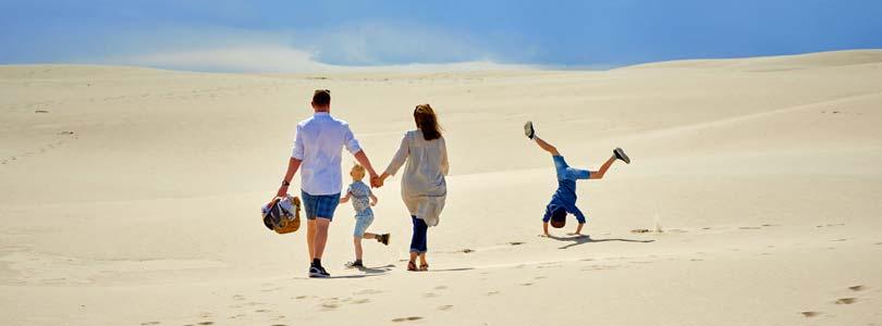 Ferienhaus Römö - Familie am Strand - Ferienwohnungen und Ferienhäuser zur Vermietung