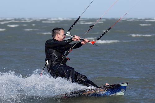 Kitesurfen Dänemark. Lernen am Nordsee