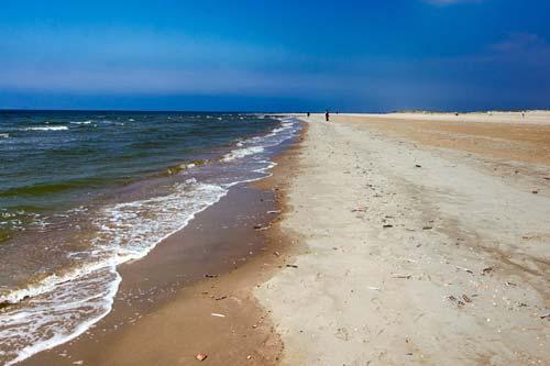Der Strand auf Insel Römö, Dänemark