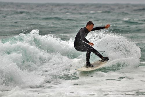 Wellenreiten in Lakolk auf Römö