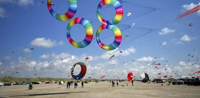 Drachenfest 2019-2020 auf Römö Strand