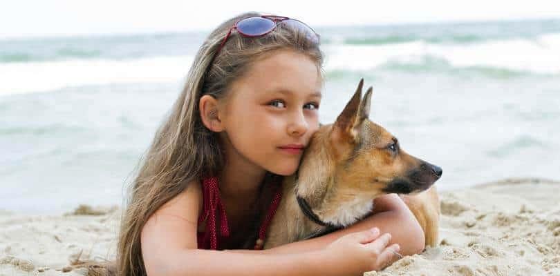 Ferienhaus mit Hund - Kind auf Römö Strand